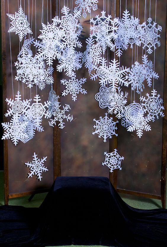 Ідеї новорічного декору. Сніжинки