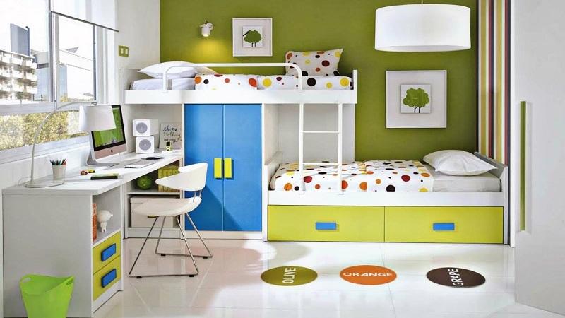Ідеї дизайну дитячої кіннати для двох, трьох, чотирьох дітей