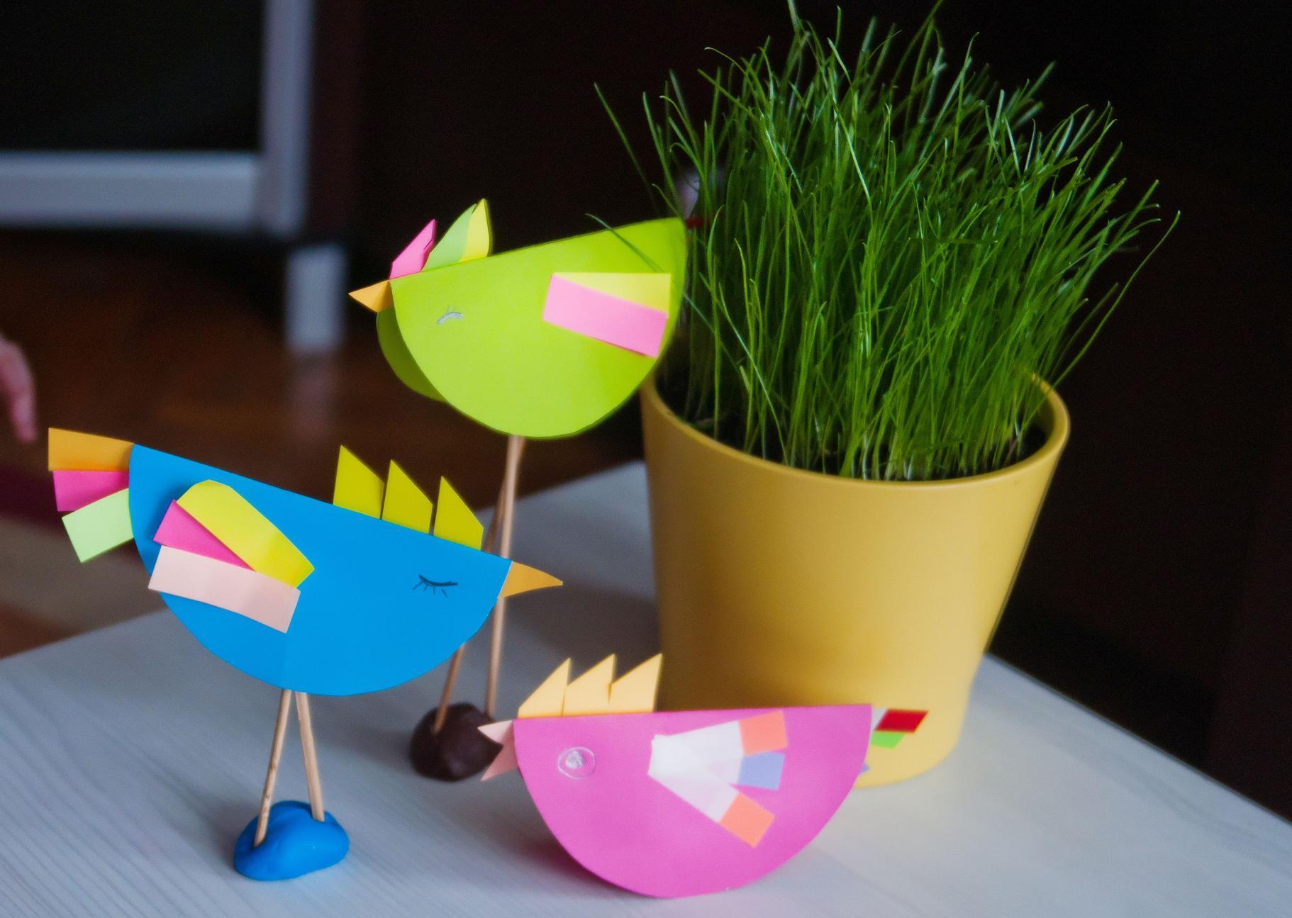 Веселі пташки. Ідея для дитячої творчості