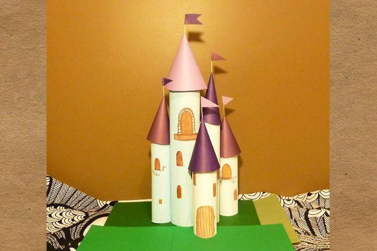 Замок своими руками картона