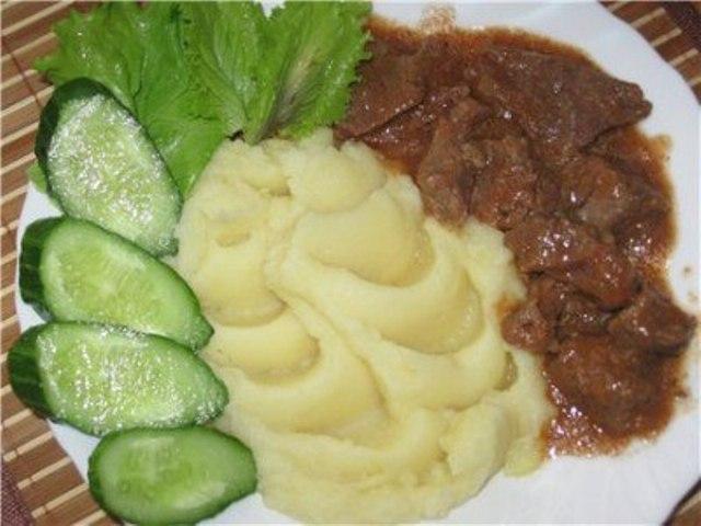 Картофельное пюре с мясом рецепт с фото
