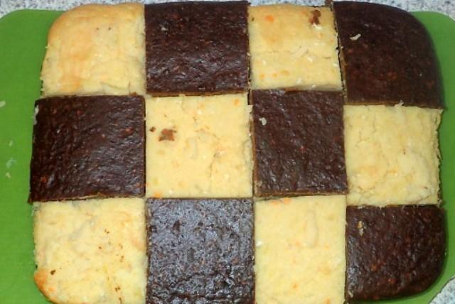 Картопляна запіканка з печінкою «Шахова дошка»