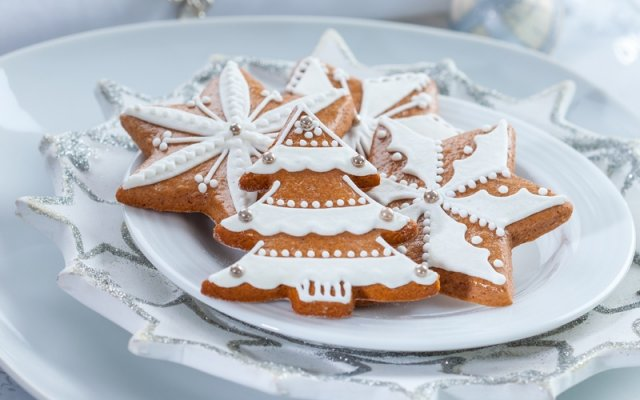 Новорічне пісочне печиво