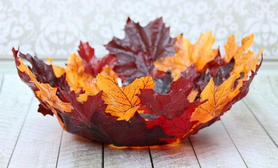 Осінні поробки з листя для дітей