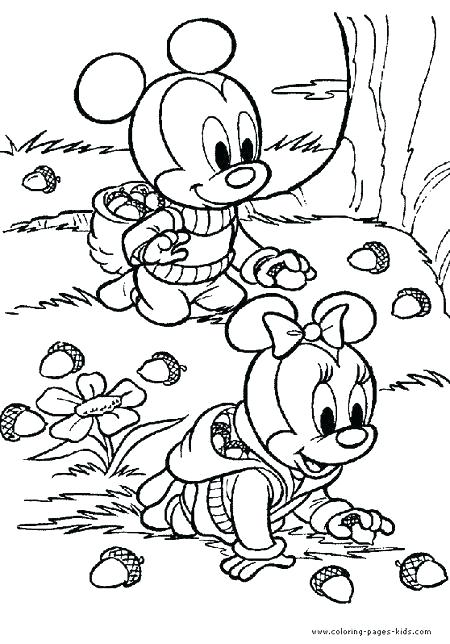 Осінні розмальовки для дітей