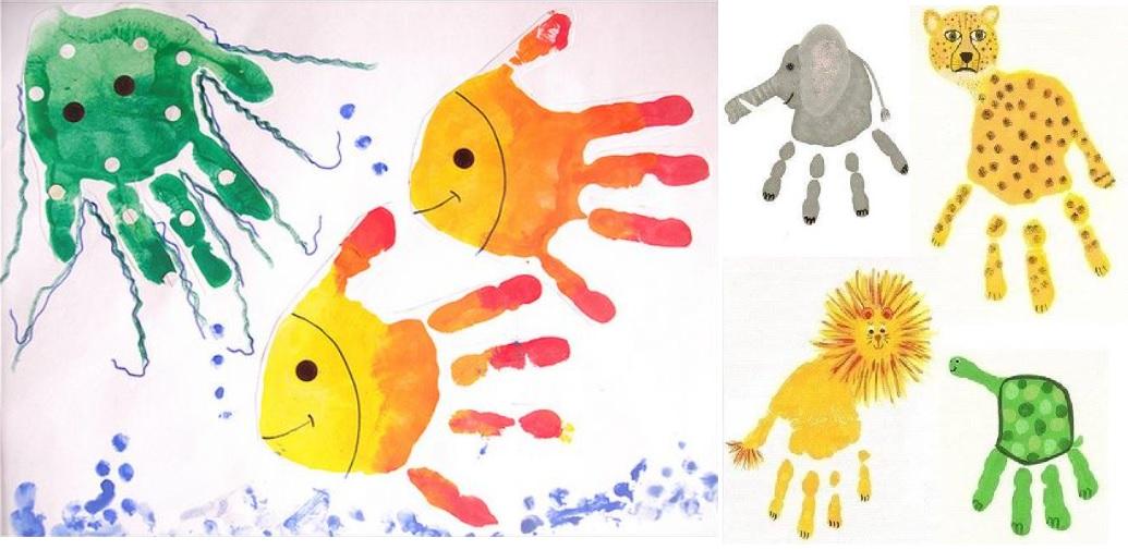 Фарби в долоньці. Ідеї творчості з пальчиковими фарбами для малюків