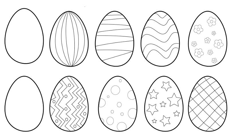 Цікаві розмальовки до Великодня