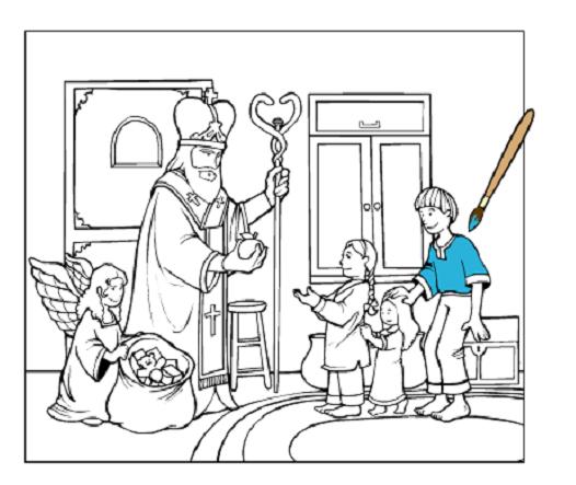 Розмальовки до свята св. Миколая