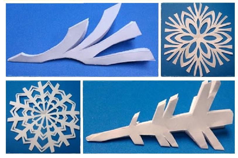 Сніжинки витинанки - шаблони