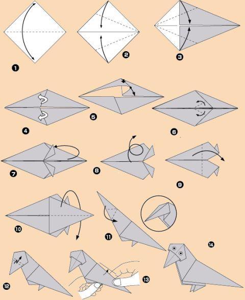Різноманітні схеми орігамі для дітей