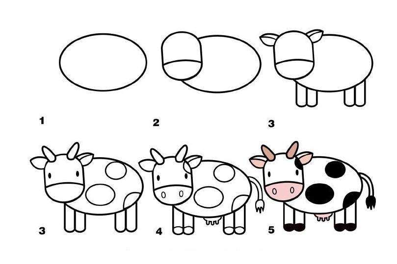 Як навчити дитину намалювати тваринок, пташок, ...